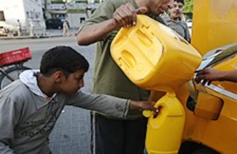 gaza blockade gas AP (photo credit: AP)