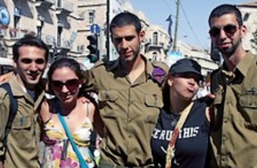 US Jews with idf 224 jta (photo credit: Brian Hendler / jta)