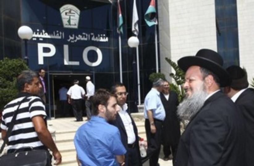 Shas rabbia Menashe Zlika in Ramallah 150 (photo credit: Mati Milstein/The Geneva Initiative)