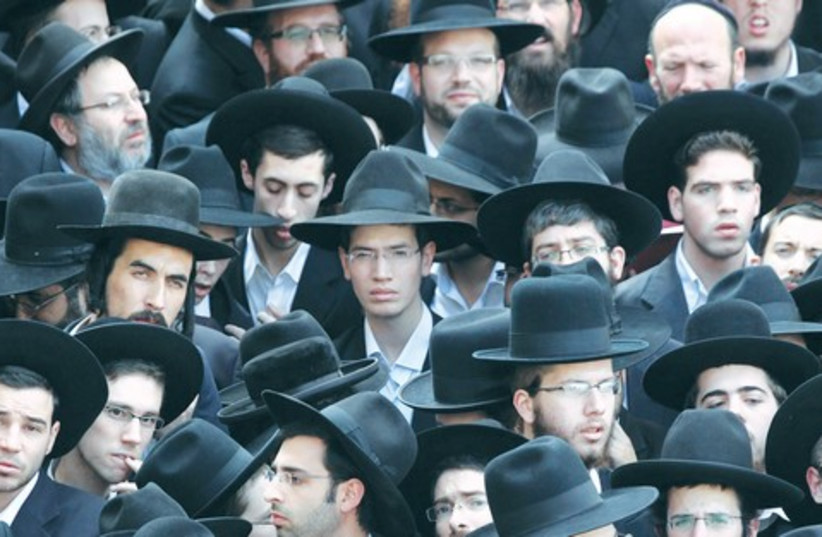 Ultra-Orthodox Jewish men. (photo credit: Marc Israel Sellem)