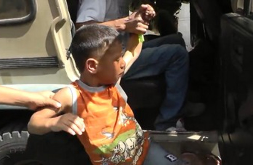 Five-year-old Palestinian boy detained by IDF 370 (photo credit: YouTube Screenshot)