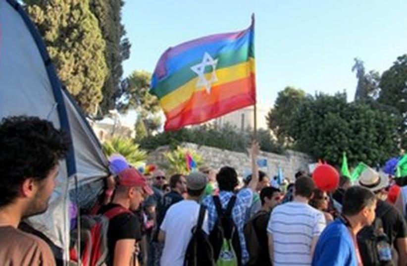 Jerusalem gay pride parade_311 (photo credit: MELANIE LIDMAN)