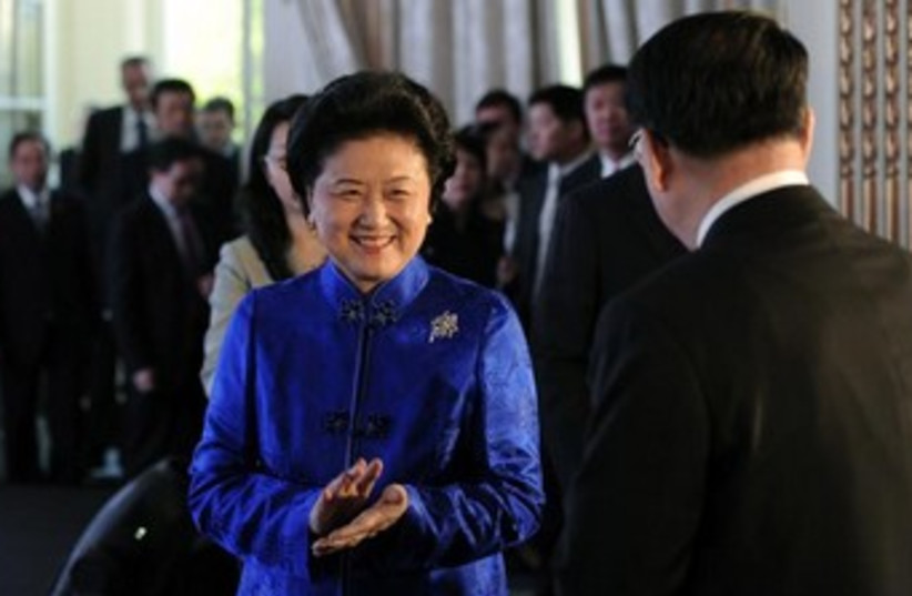 Member of China's Politburo Liu Yandong 370 (photo credit: REUTERS)