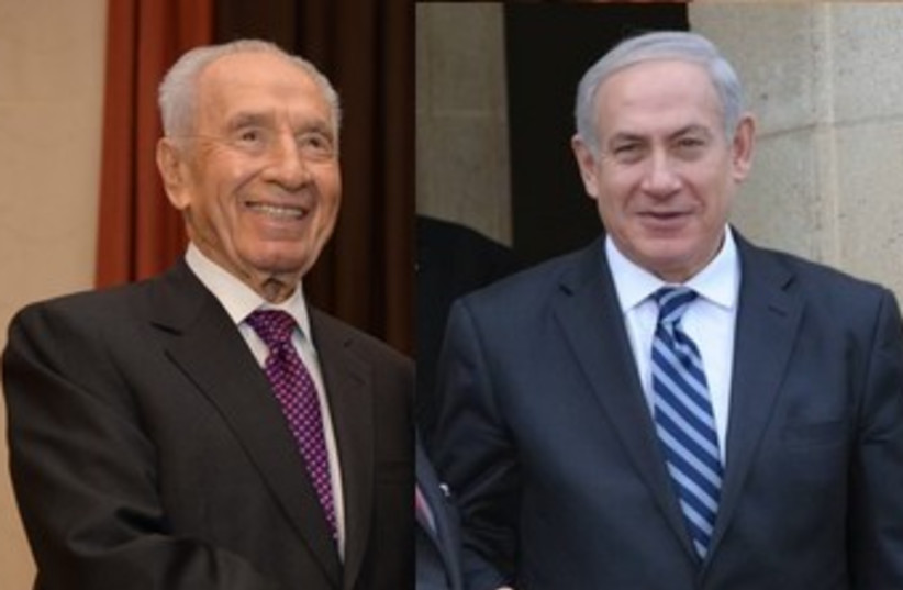 Netanyahu peres combo 370 (photo credit: GPO)