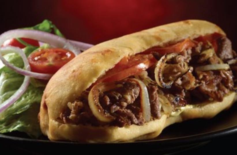 The Black Burger's hamburger (photo credit: Courtesy)