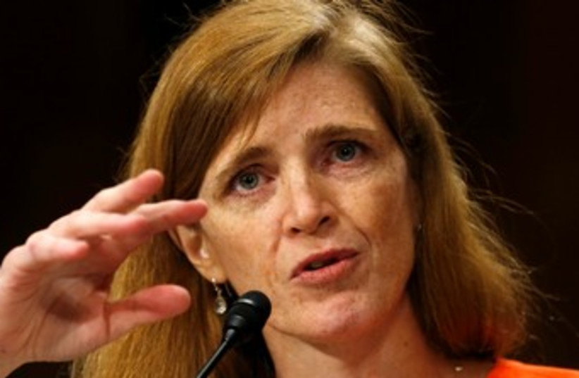 Samantha Power370 (photo credit: Reuters)