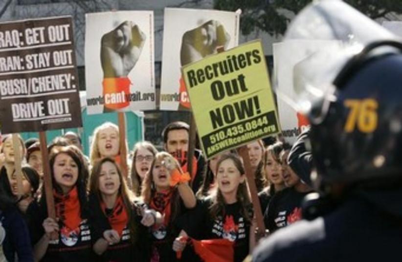 Berkeley, California Uni protest University of California (photo credit: REUTERS/Robert Galbraith)