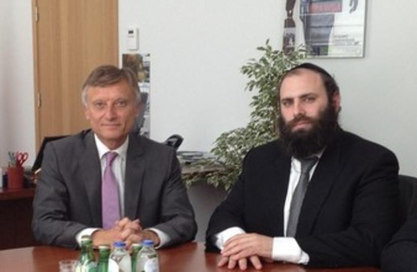 Ambassador Prawda and Rabbi Margolin370 (photo credit: EJA- Courtesy)