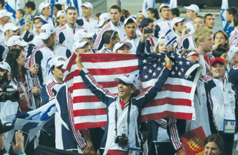 Maccabiah games opening ceremony 390 (photo credit: Marc Israel Sellem/The Jerusalem Post)