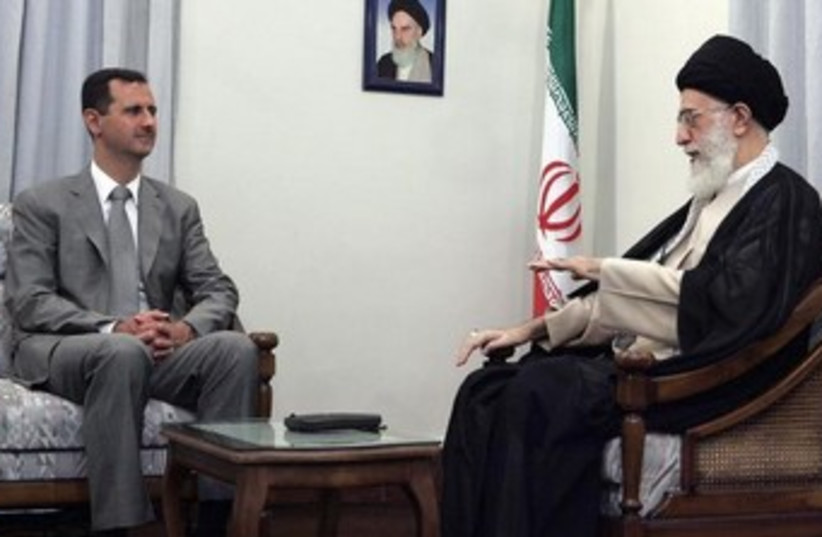 Assad and Khamenei 370 (photo credit: REUTERS)