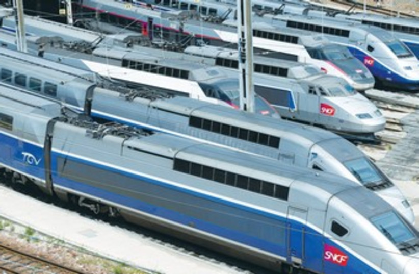 HIGH SPEED trains 370 (photo credit: REUTERS)