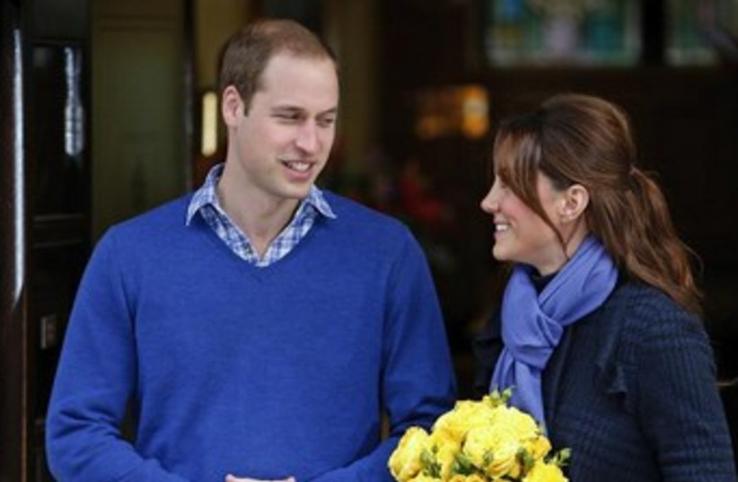 Britain's Prince William and Catherine, Duchess of Cambridge (photo credit: REUTERS)