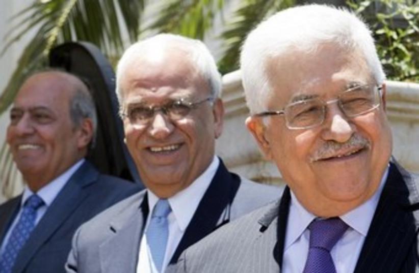Mahmoud Abbas and Saeb Erekat 370 (photo credit: Reuters)