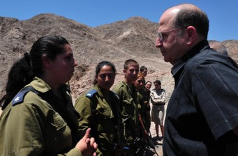 Ya'alon on Egypt Border 370 (photo credit: Minister of Defense Communications.)