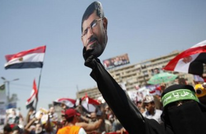 A member of the Muslim Brotherhood and supporter of ousted Egyptian President Morsi, July 26, 2013.