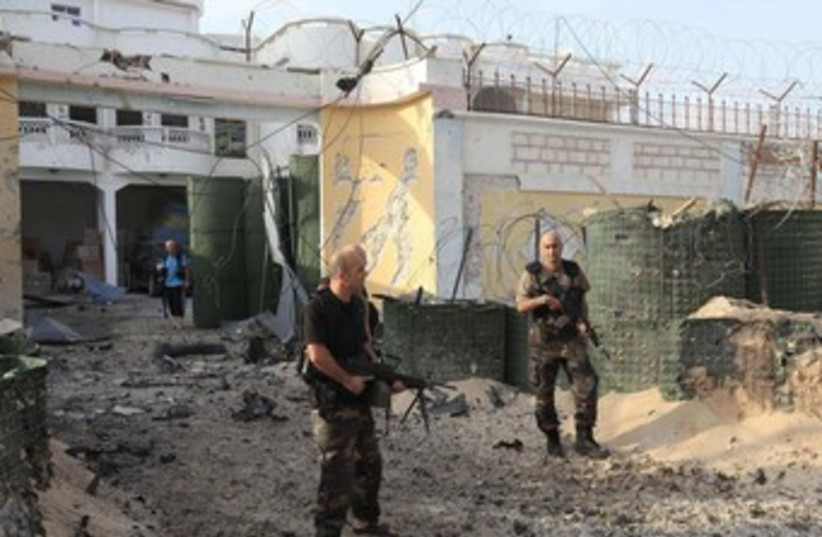 Turkish embassy staff building hit by car bomb in Somalia 37 (photo credit: REUTERS)