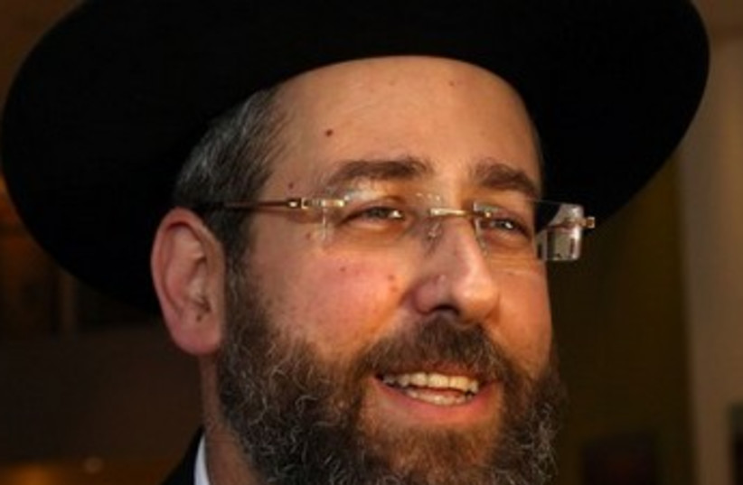 Rabbi David Lau 370 (photo credit: Marc Israel Sellem/The Jerusalem Post)