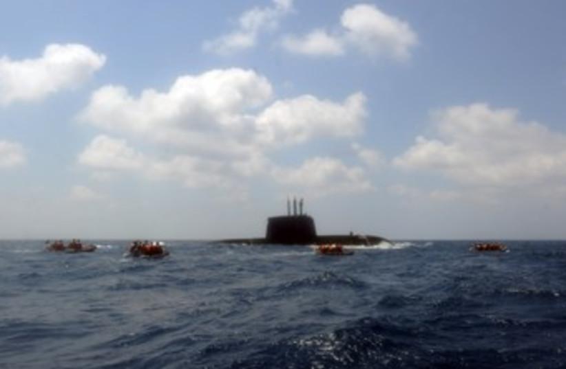 Dolphin submarine course 370 (photo credit: IDF Spokesman's Office)