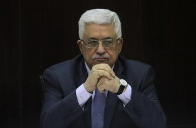 Palestinian Authority President Mahmoud Abbas. (photo credit: REUTERS/ISSAM RIMAWI/POOL)