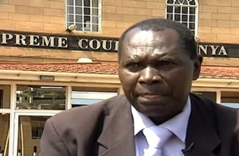 Kenyan lawyer suing State of Israel (photo credit: YouTube Screenshot)