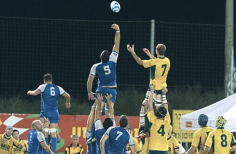 Maccabiah rugby 370 (photo credit: Adi Jana)