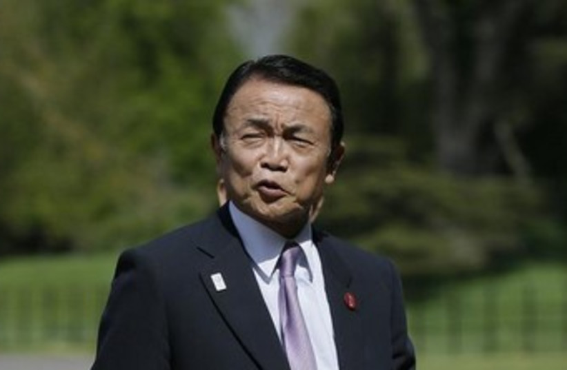 Japanese Deputy Prime Minister Taro Aso (photo credit: REUTERS)