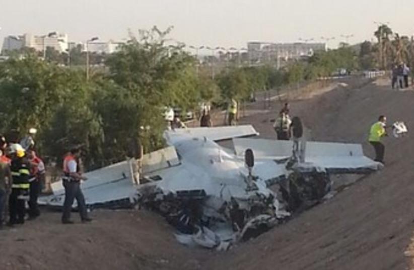 Plane crash in Eilat 370 (photo credit: Ariel Pinder)