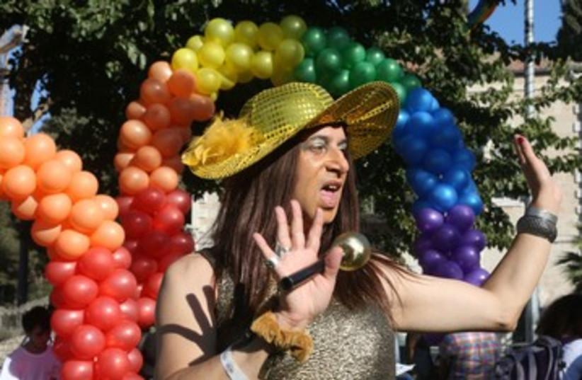 Gay Pride parade Jerusalem 2013 (photo credit: Marc Israel Sellem/The Jerusalem Post)