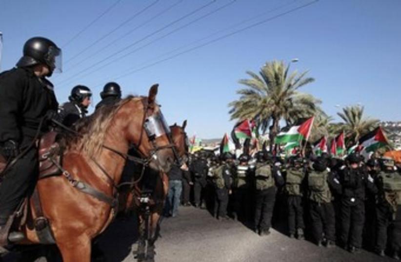 Demonstration against Prawler plan Beduin (photo credit: REUTERS/Ammar Awad)