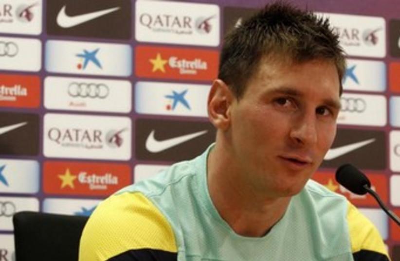 Barcelona strike Lionel Messi 370 (photo credit: Reuters)