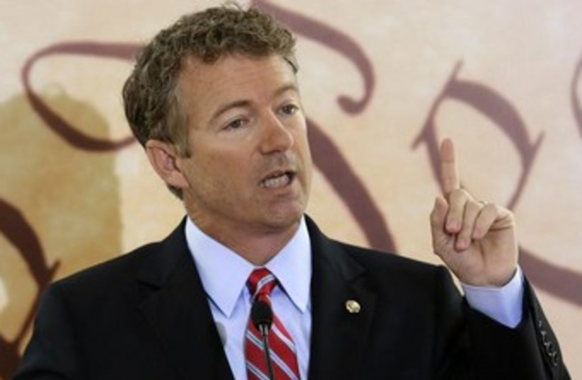 Kentucky Senator Rand Paul 370 (photo credit: Reuters)