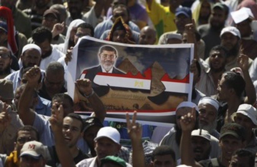 Pro-Morsi protesters 370 (photo credit: Reuters)