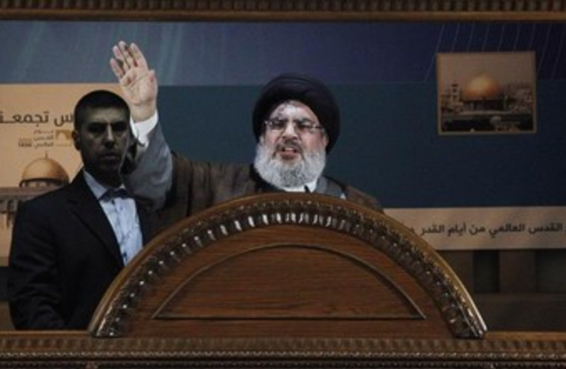 Hezbollah leader Sayyed Hassan Nasrallah 370 (photo credit: REUTERS)