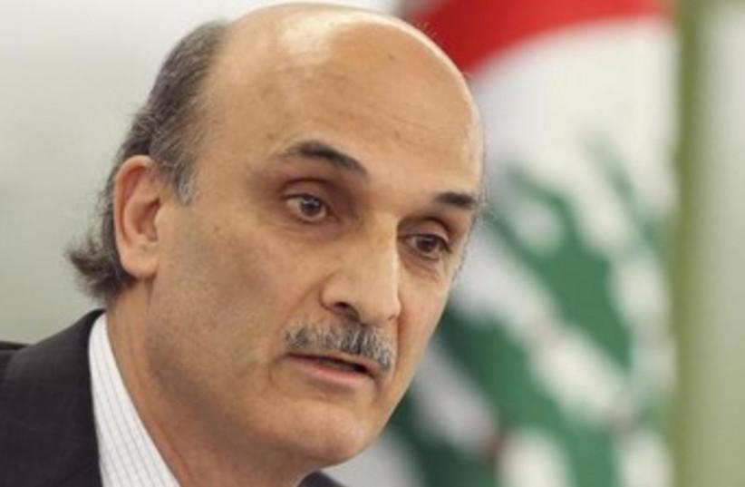 Lebanese Christian leader Samir Geagea 370 (photo credit: Reuters)