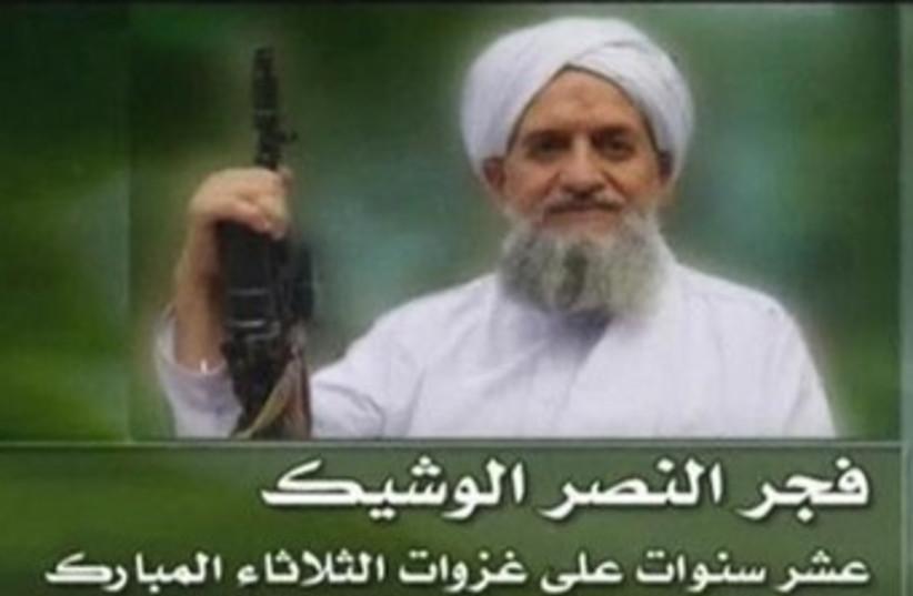 Al-Qaida's new leader, Egyptian Ayman al-Zawahiri 370 (photo credit: REUTERS)