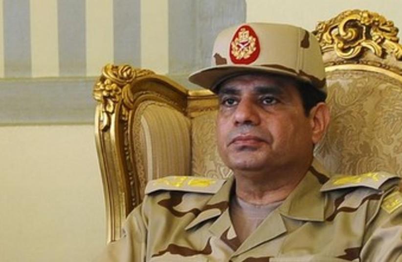 Egyptian Defense Minister Abdel Fattah al-Sisi 370 (photo credit: REUTERS/Stringer)