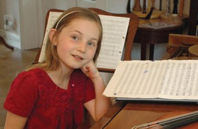 Alma Deutscher 8-year-old British composer 370 (photo credit: Guy Deutscher)