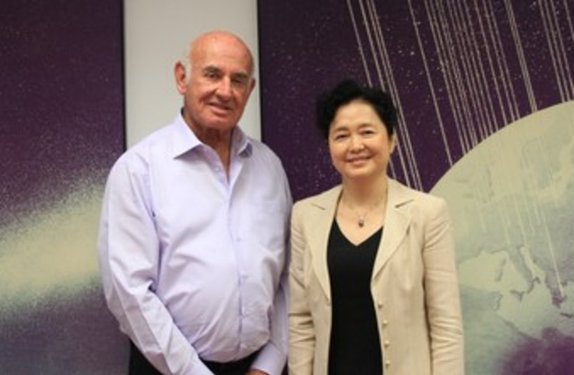 Minister Peri  and Chinese Ambassador Gao Yanping370 (photo credit: Courtesy- Ministry of Science, Technology and Spac)