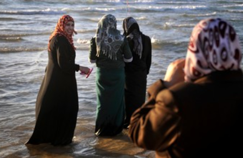 Eid al-Fitr beach celebration 370 (photo credit: Hadas Parush)