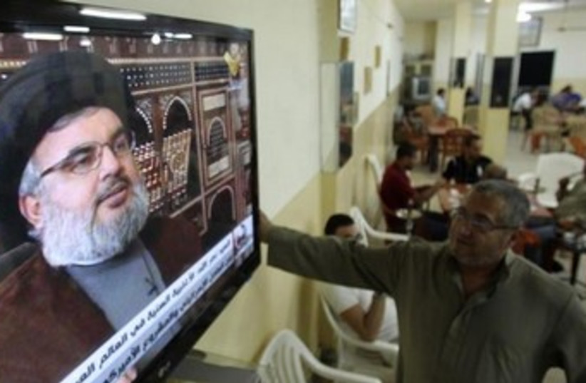 Nasrallah on al Manar 370 (photo credit: REUTERS)