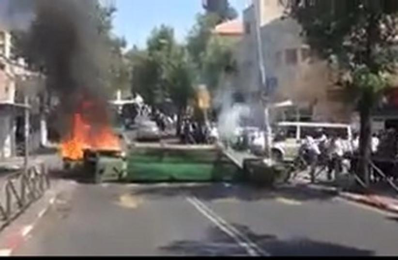 Haredi protests 370 (photo credit: Screenshot)
