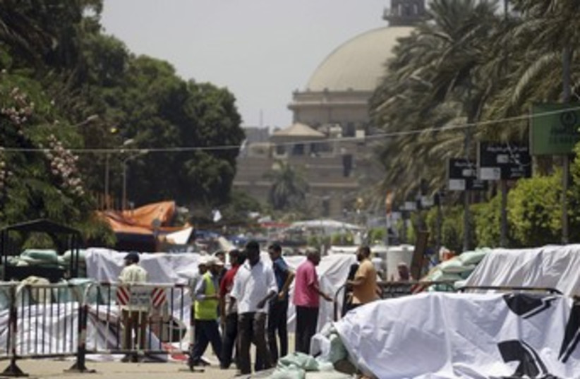Morsi sit-in camp in Cairo 370 (photo credit: REUTERS)