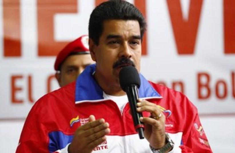 Venezuelan President Nicolas Maduro 370 (photo credit: Reuters)