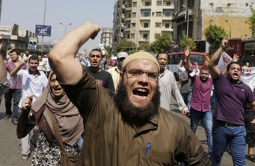 Protets in Egypt, August 17, 2013 (photo credit: REUTERS)