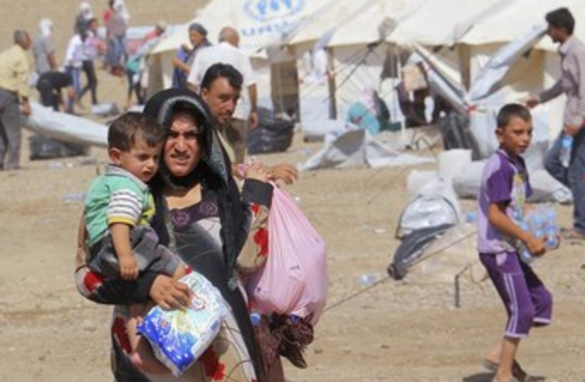 Syrian refugees in Iraq 370 (photo credit: REUTERS)