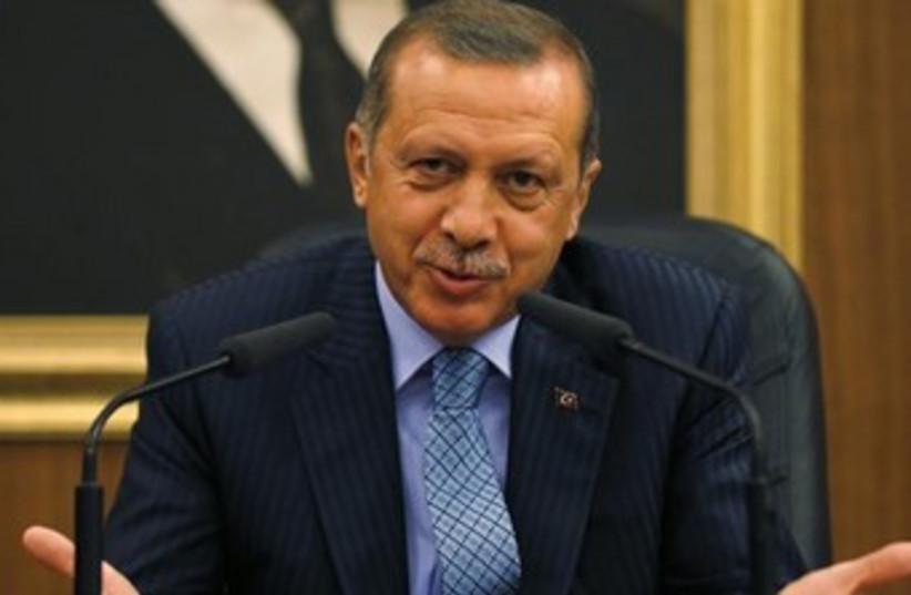 Turkish Prime Minister Recep Tayyip Erdogan 370 (photo credit: Reuters)