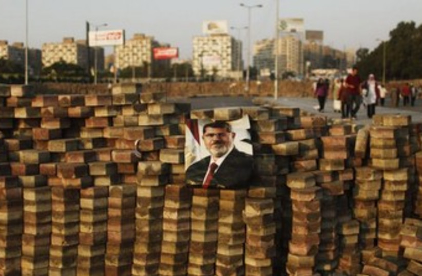 Supporters of deposed Egyptian President Mohamed Morsi (photo credit: Reuters)