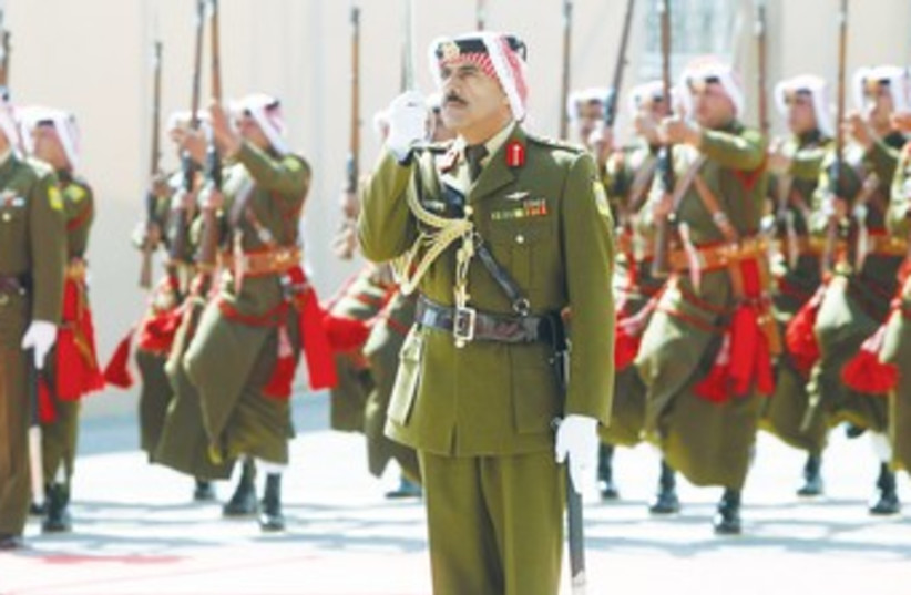 jordan honorary beduin guard 370 (photo credit: REUTERS)