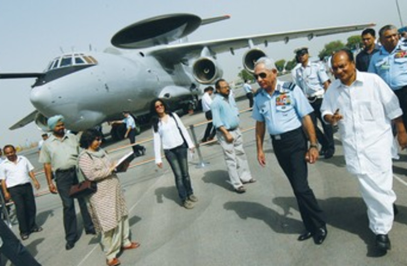THE FIRST of the three AWACS from Israel delivered to Agra37 (photo credit: REUTERS)