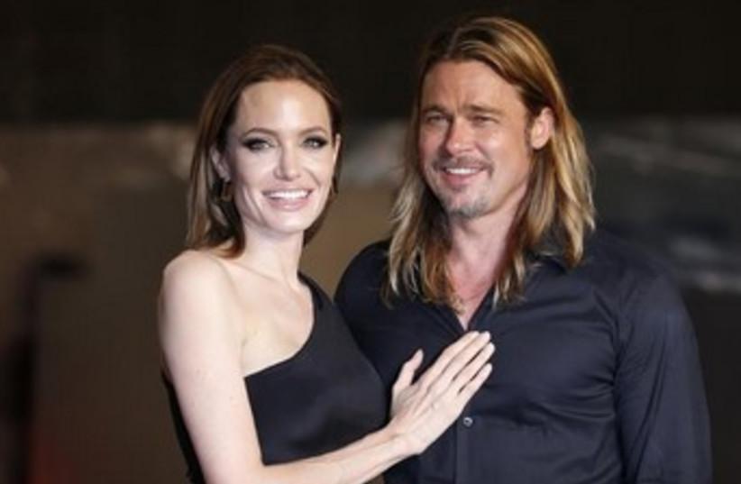 Angelina Jolie and Brad Pitt 370 (photo credit: REUTERS)